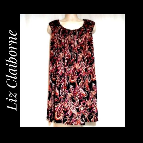 Liz Claiborne Sleeveless Multicolor Paisley Dress